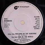 BAD MANNERS / WALKING IN THE SUNSHINE