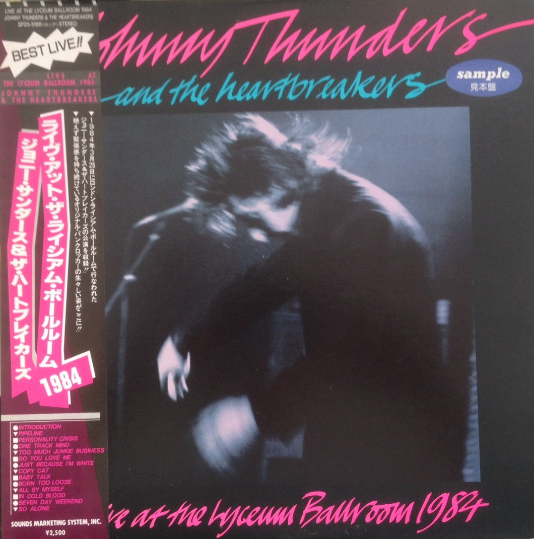 JOHNNY THUNDERS / LIVE AT THE HYCEUM BALLROOM 1984