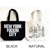 ANORAKS / LIFE IS JOURNEY TOTE (NEWYORK BLACK)