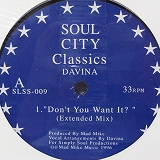 DAVINA / DON'T YOU WANT IT?