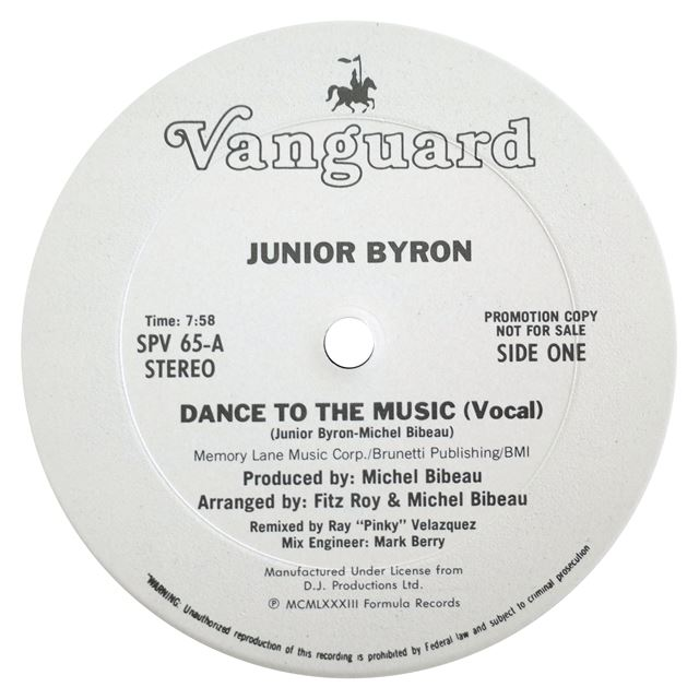 JUNIOR BYRON / DANCE TO THE MUSIC