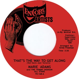 MARIE ADAMS / THAT'S THE WAY TO GET ALONG