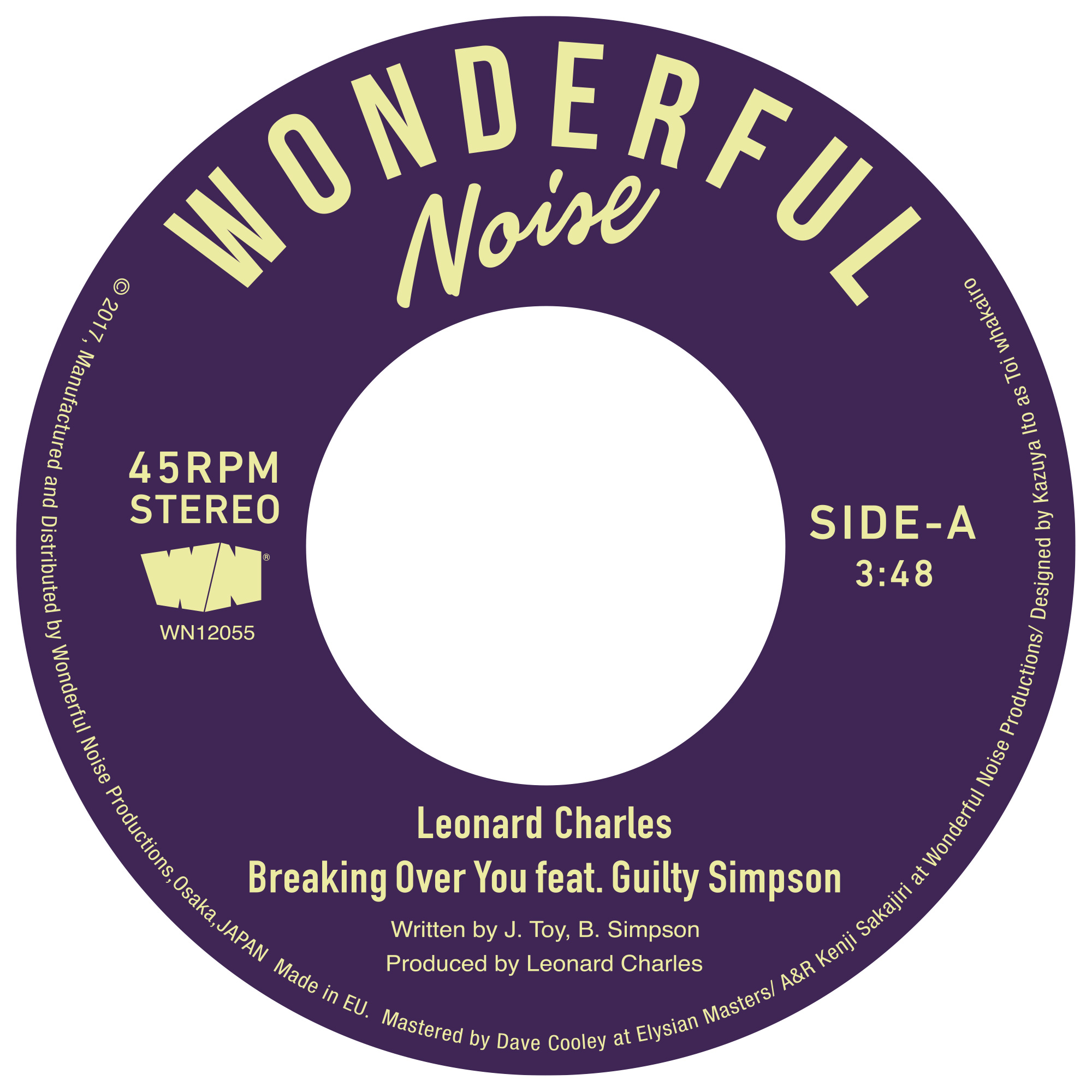 LEONARD CHARLES FEAT. GUILTY SIMPSON / BREAKING OVER YOU