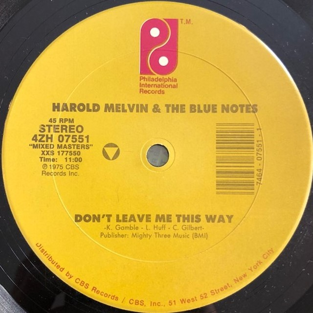 HAROLD MELVIS & BLUE NOTES  / DON'T LEAVE ME THIS WAY