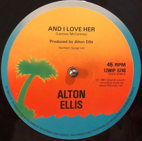 ALTON ELLIS / AND I LOVE HER