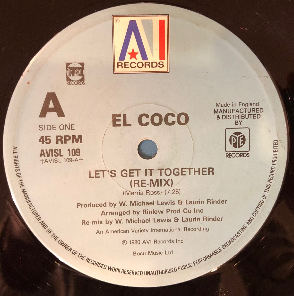EL COCO / LET'S GET IT TOGETHER  (RE-MIX)