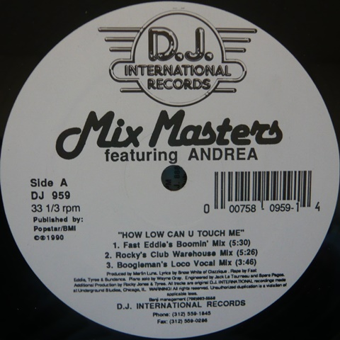 MIX MASTERS / HOW LOW CAN U TOUCH ME