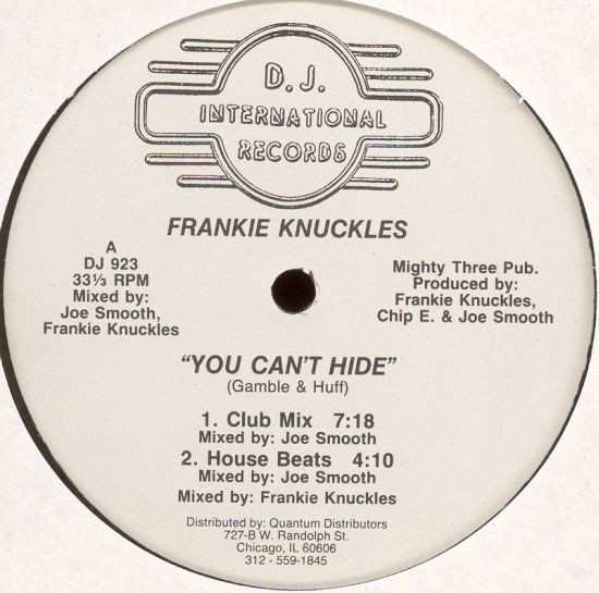 FRANKIE KNUCKLES ‎/ YOU CAN'T HIDE