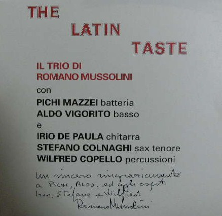 ROMANO MUSSOLINI / THE LATIN TASTE