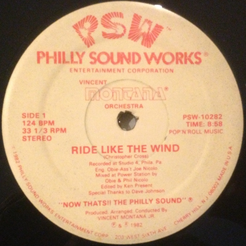 VINCENT MONTANA ORCHESTRA / RIDE LIKE THE WIND