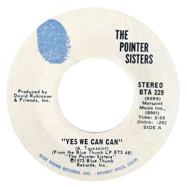POINTER SISTERS ‎/ YES WE CAN CAN