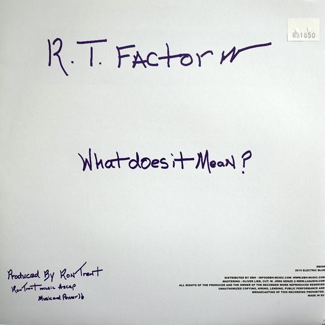 R.T. FACTOR (RON TRENT) / WHO ARE WE?