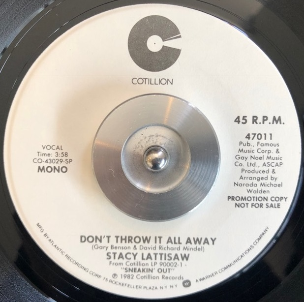 STACY LATTISAW / DON'T THROW IT ALL AWAY