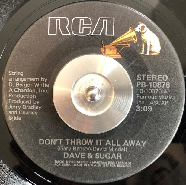 DAVE & SUGAR / DON'T THROW IT ALL AWAY