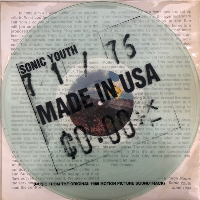SONIC YOUTH / MADE IN USA