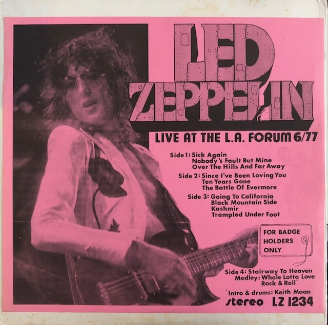 LED ZEPPELIN / LIVE AT THE L.A. FORUM 6/77