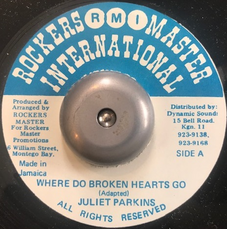 JULIET PARKINGS / WHERE DO BROKEN HEARTS GO